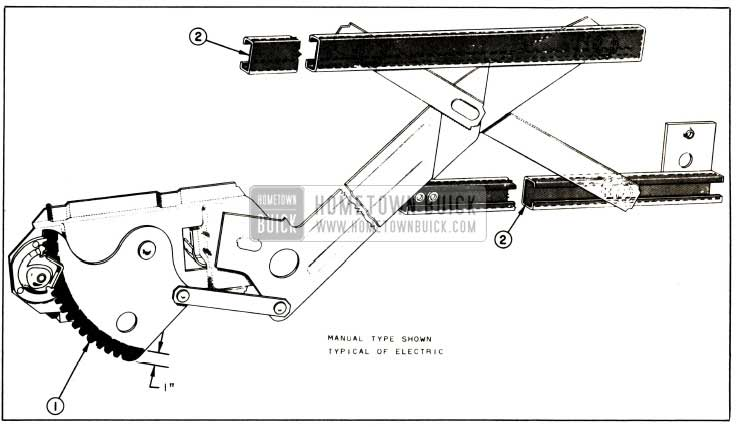 1957 Buick Lubrication of Front and Rear Door Window Regulator and Channels
