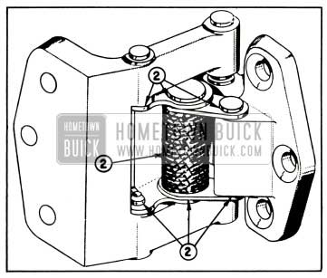 1957 Buick Lubrication of Rear Door Hinge and Hold-Open Assembly-Series 50-70