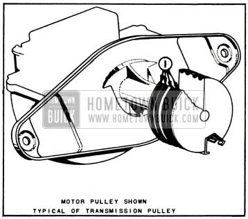 1957 Buick Lubrication of Windshield Wiper Motor Auxiliary Drive and Wiper Transmission Pulleys