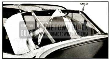 1957 Buick Pad and Curtain Attachment to Large Bow