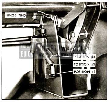 1957 Buick Rear Compartment Hinge-Convertibles Illustration