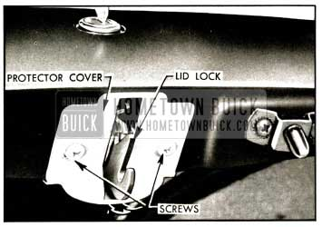 1957 Buick Rear Compartment Lid Lock and Protector Cover Illustration