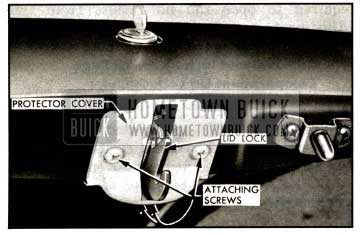 1957 Buick Rear Compartment Lid Lock and Protector Cover