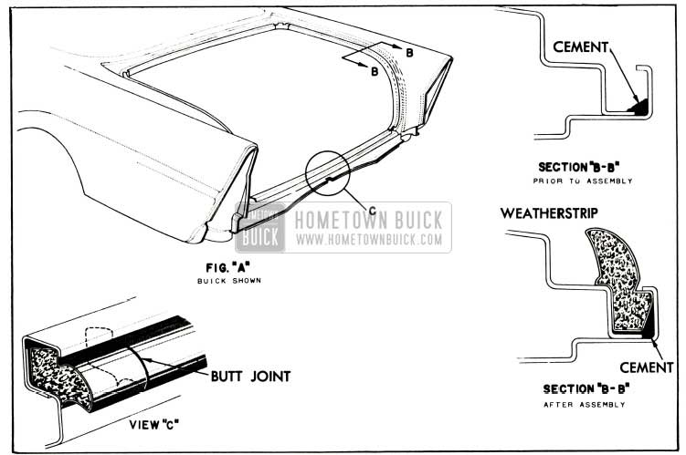 1957 Buick Rear Compartment Weatherstrip Illustration