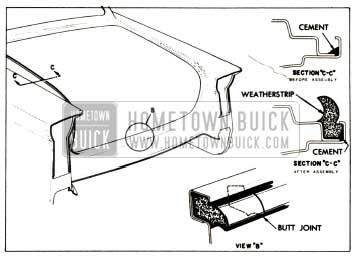 1957 Buick Rear Compartment Weatherstrip