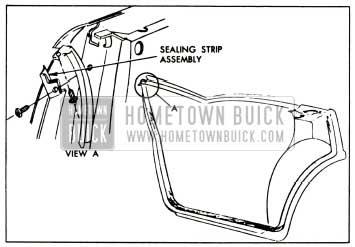 1957 Buick Rear Door Hinge Pillar Sealing Strip