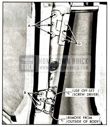 1957 Buick Rear Door Hinges Illustration