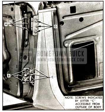 1957 Buick Rear Door Hinges
