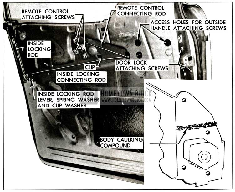 1957 Buick Rear Door lock Mechanisms