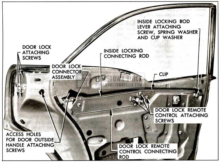 1957 Buick Rear Door Locking Mechanisms-Models 43 and 63