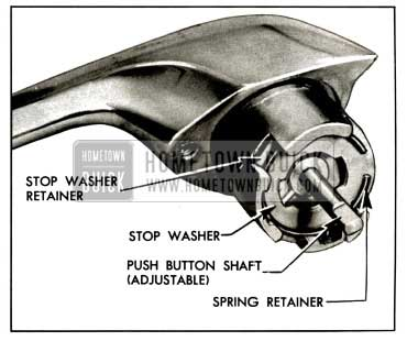 1957 Buick Rear Door Outside Handle Assembly