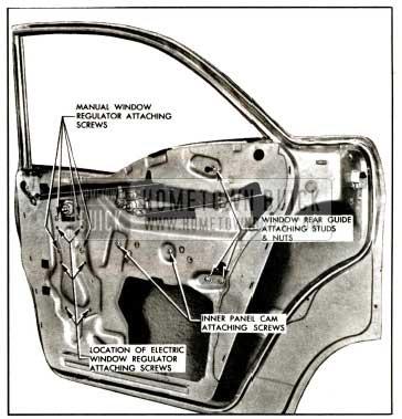 1957 Buick Rear Door Window Adjustments-Model 41