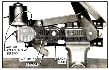 1957 Buick Rear Door Window Electric Motor