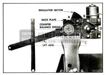 1957 Buick Rear Door Window Electric Regulator Assembly