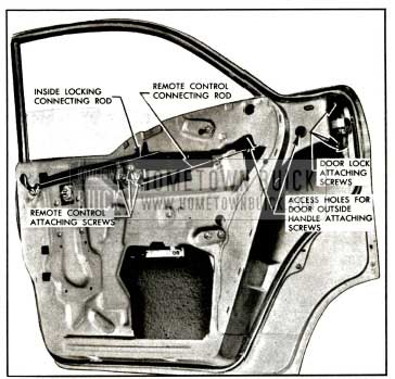 1957 Buick Rear Door Window Frame-Model 41