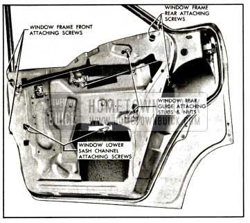 1957 Buick Rear Door Window-Model 41