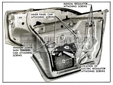 1957 Buick Rear Door Window Regulator Removal-Models 43-63