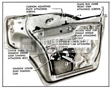 1957 Buick Rear Door Window Removal-Models 43-63