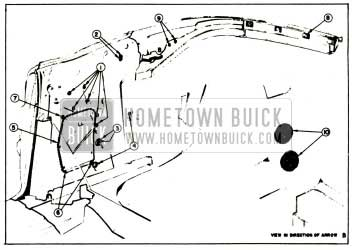 1957 Buick Rear Quarter Inner Panel Sealing-Convertibles Illustration