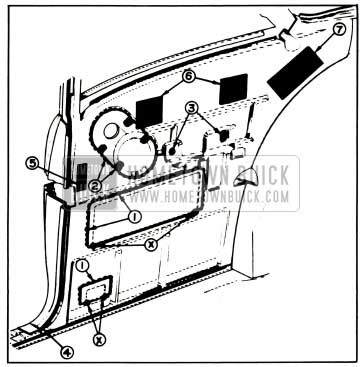 1957 Buick Rear Quarter Inner Panel Sealing-Model 48