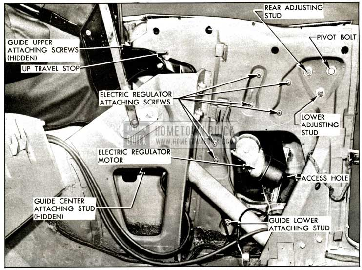 1957 Buick Rear Quarter Window Installation Illustration