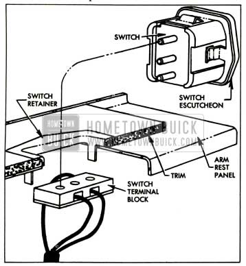1957 Buick Rear Quarter Window Switch Attachment