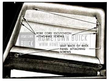 1957 Buick Robe Cord Escutcheon and Seat Back Attachment