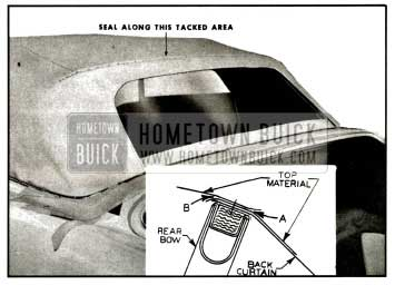 1957 Buick Sealing at Rear Bow