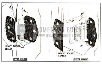1957 Buick Sealing Rear Door Hinges Procedure