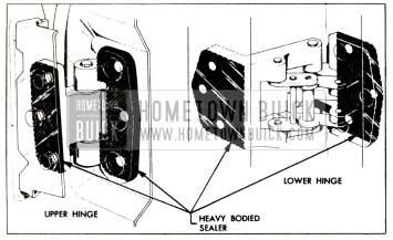 1957 Buick Sealing Rear Door Hinges