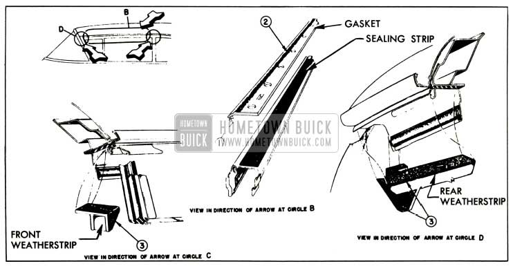 1957 Buick Side Roof Rail Mechanical Sealing Strip