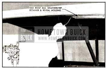 1957 Buick Side Roof Rail Weatherstrip Illustration