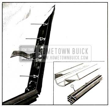 1957 Buick Side Roof Rail Weatherstrip View