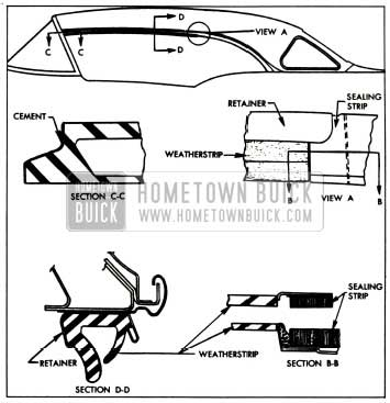 1957 Buick Side Roof Rail Weatherstrips