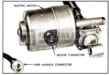 1957 Buick Socket and Blade Type Connector for Seat Motor