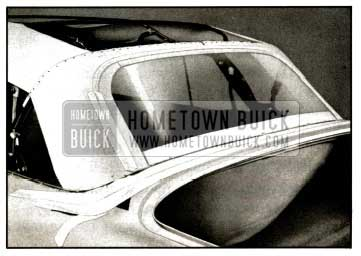1957 Buick Tacking Convertible Back Curtain