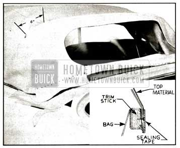1957 Buick Top Attachment at Rear Trim Stick