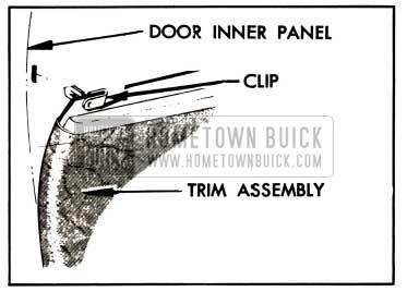 1957 Buick Trim Pad Clip