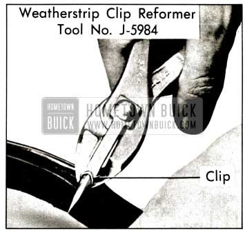 1957 Buick Weatherstrip Clip Reforming Tool
