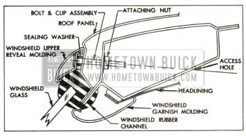 1957 Buick Windshield and Reveal Molding Installation