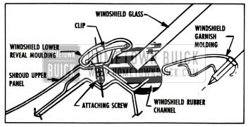 1957 Buick Windshield Lower Reveal Molding Attachment Instruction