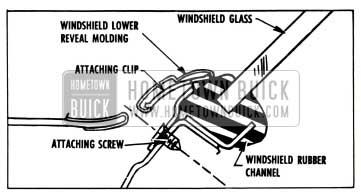 1957 Buick Windshield Lower Reveal Molding Attachment Procedure