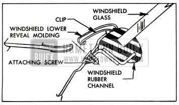 1957 Buick Windshield Lower Reveal Molding Attachment