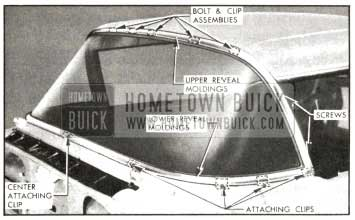 1957 Buick Windshield Reveal Molding Attachment