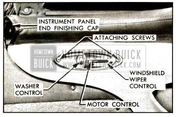 1957 Buick Windshield Wiper Control Attachment