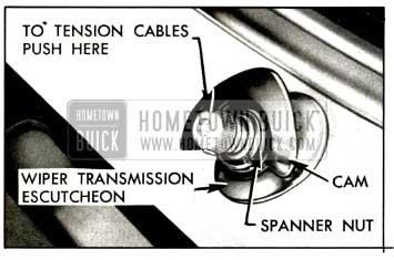 1957 Buick Windshield Wiper Transmission Escutcheon