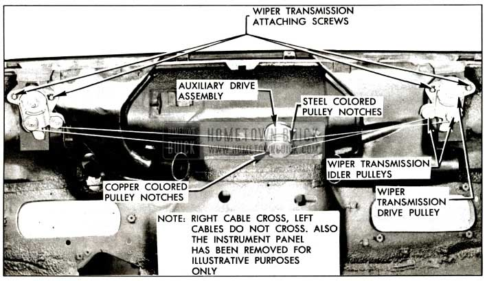 1957 Buick Wiper Transmission and Auxiliary Drive Installation