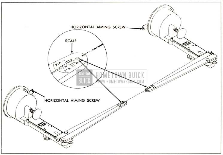 1958 Buick Adjusting Horizontal Aim