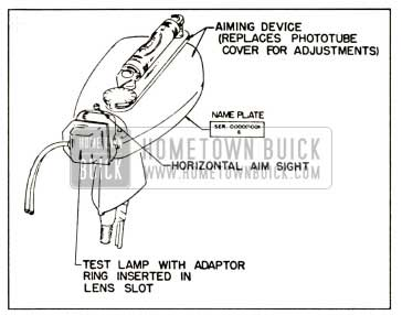 1958 Buick Aiming Device and Test Lamp Installed