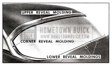 1958 Buick Back Window Reveal Molding Series 40-60